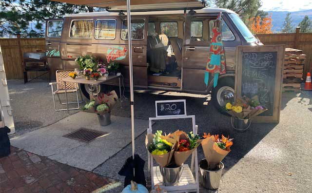 flower delivery kelowna old school petals van