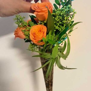 orange-rose-arrangement-old-school-petals-kelowna